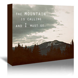 Muir Mountain by Leah Flores Wrapped Canvas