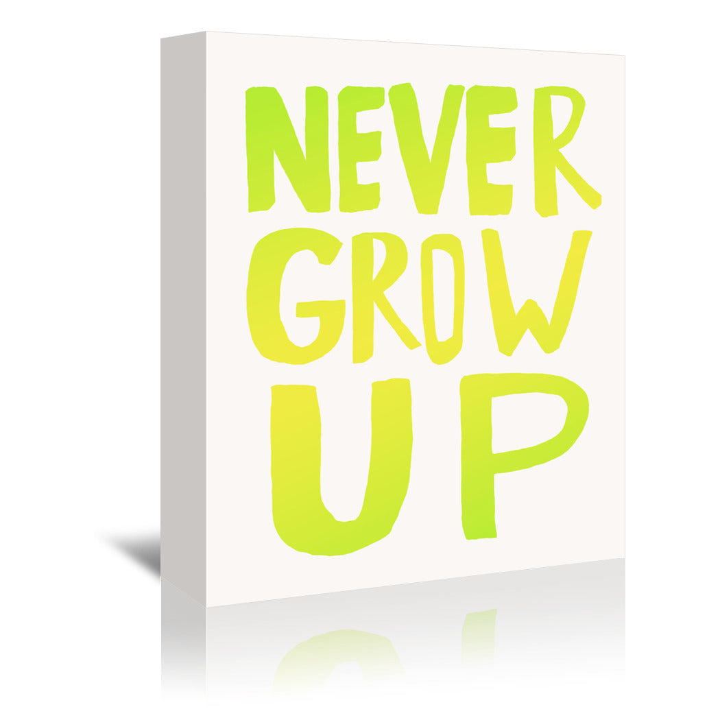 Never Grow Up X Lemon Lime by Leah Flores Wrapped Canvas - Wrapped Canvas - Americanflat