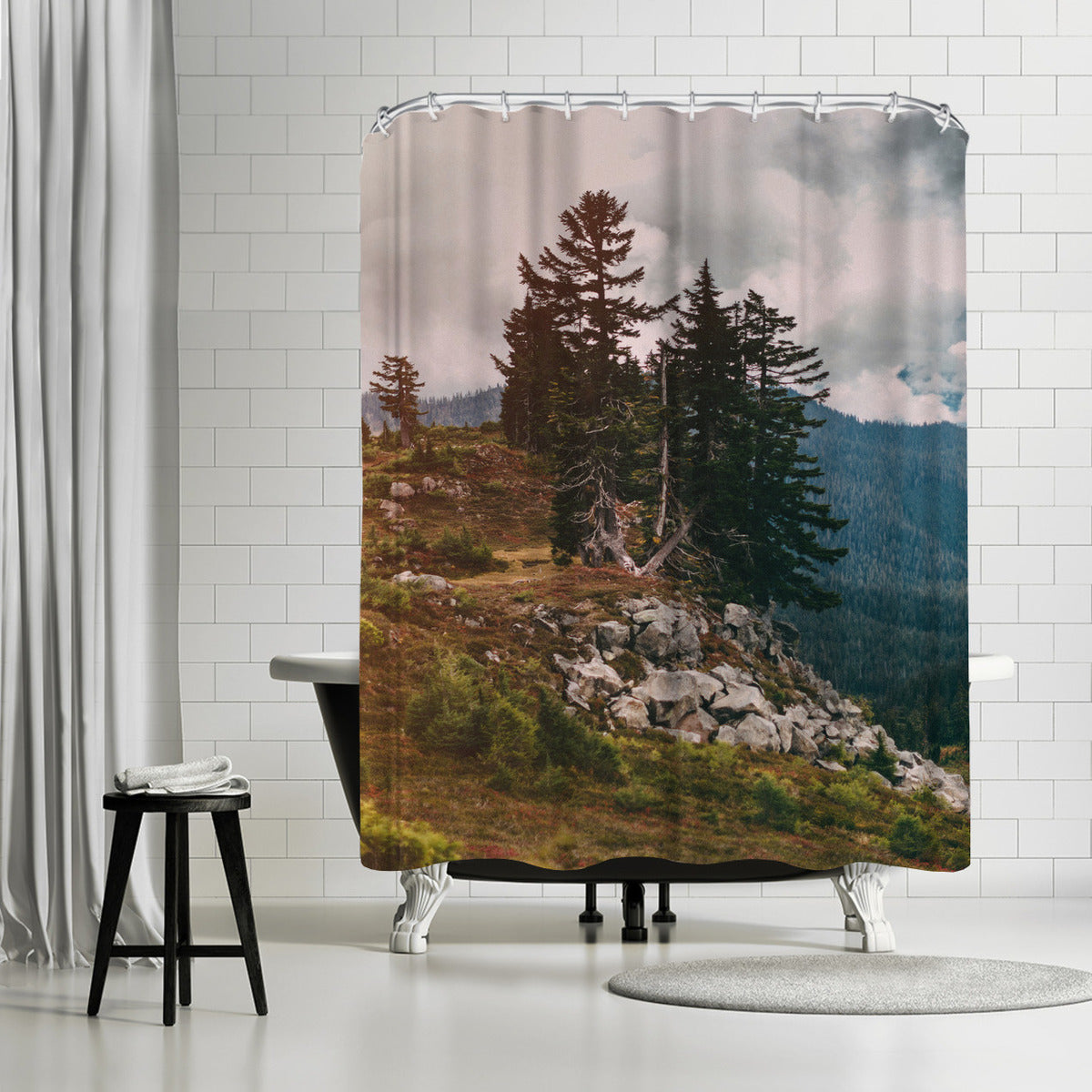 Northwest Forest by Leah Flores Shower Curtain - Shower Curtain - Americanflat