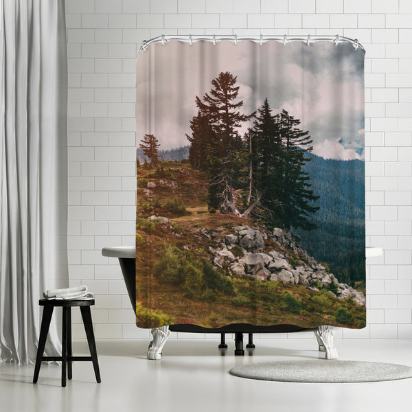 Northwest Forest by Leah Flores Shower Curtain