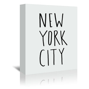 NYC by Leah Flores Wrapped Canvas