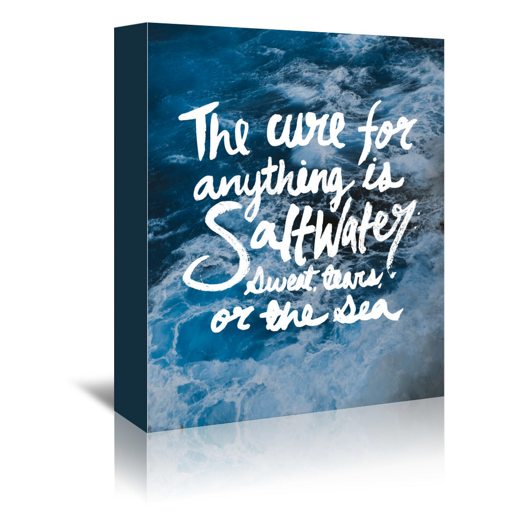 Saltwater by Leah Flores Wrapped Canvas - Wrapped Canvas - Americanflat