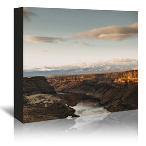 Snake River Idaho by Leah Flores Wrapped Canvas