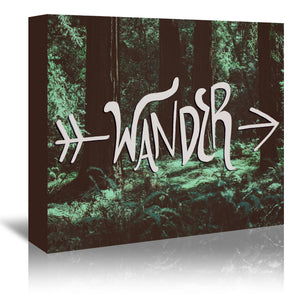Wander by Leah Flores Wrapped Canvas