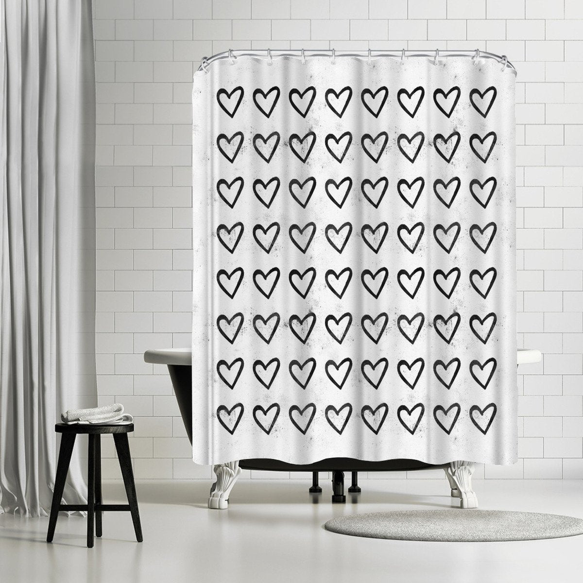Big Heart Ink Splatter by Leah Flores Shower Curtain - Shower Curtain - Americanflat
