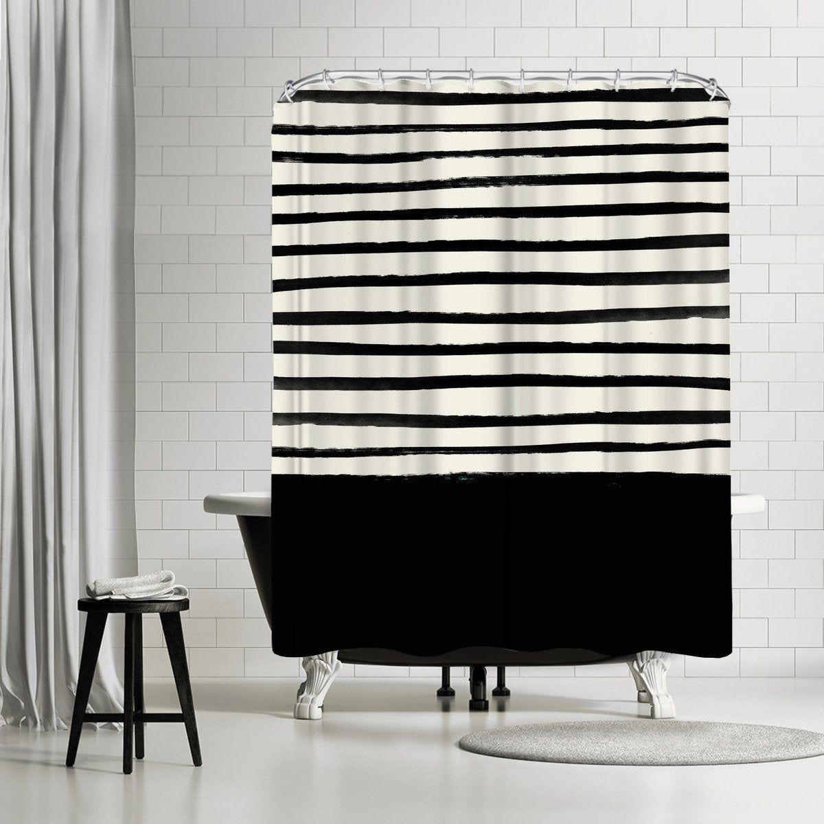 Black by Leah Flores Shower Curtain - Shower Curtain - Americanflat