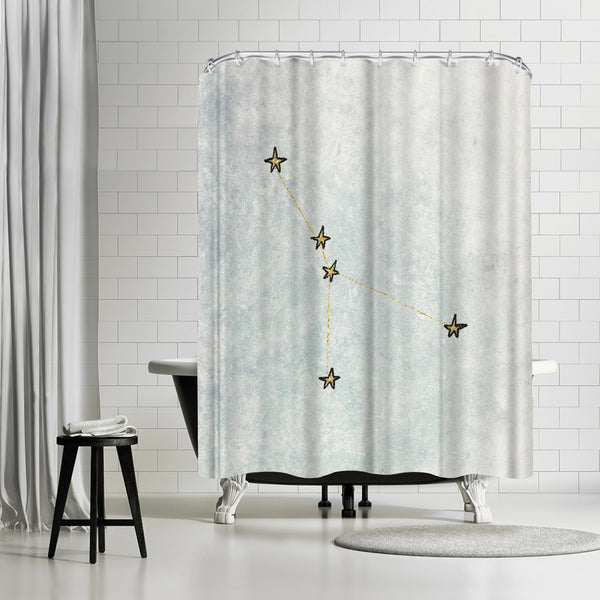 Cancer by Leah Flores Shower Curtain