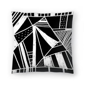 Chalkboard Mayhem by Leah Flores  Decorative Pillow