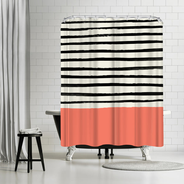Coral by Leah Flores Shower Curtain