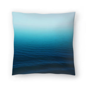 Deep Blue by Leah Flores  Decorative Pillow