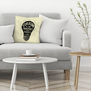 Education by Leah Flores  Decorative Pillow
