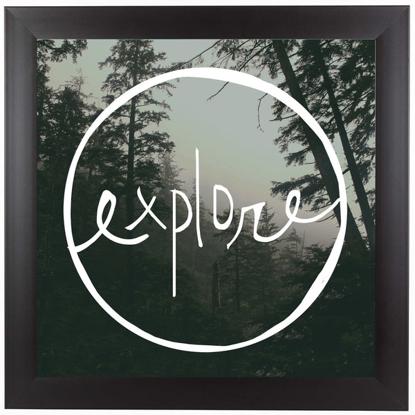Explore Oregon Forest by Leah Flores Framed Print