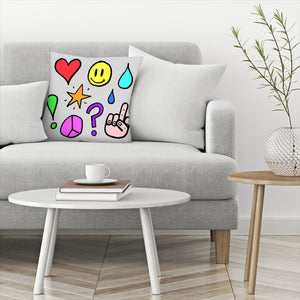 Feelings by Leah Flores  Decorative Pillow
