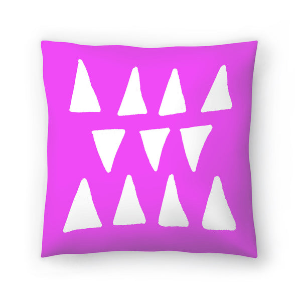 Fuchsia Frolic by Leah Flores  Decorative Pillow