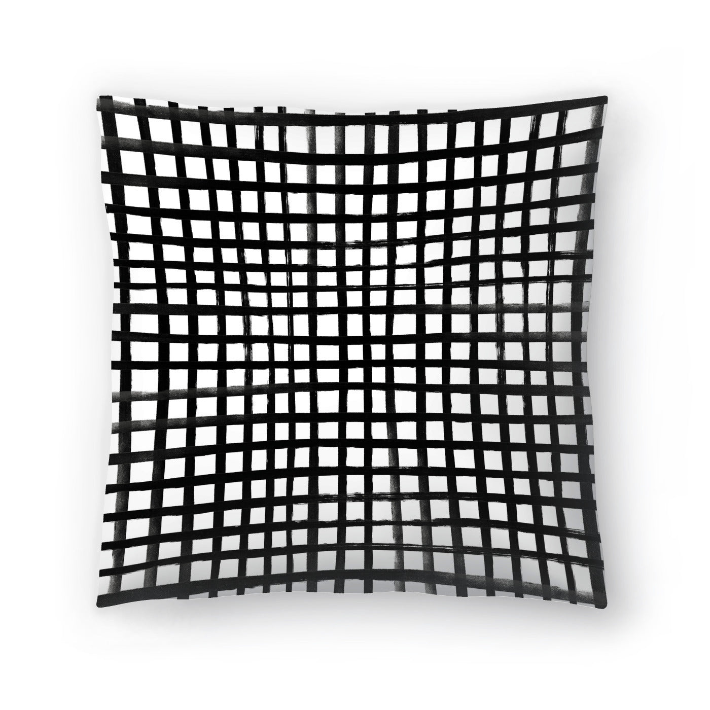 Hand Painted Grid by Leah Flores  Decorative Pillow - Decorative Pillow - Americanflat