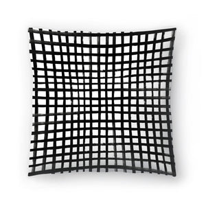 Hand Painted Grid by Leah Flores  Decorative Pillow