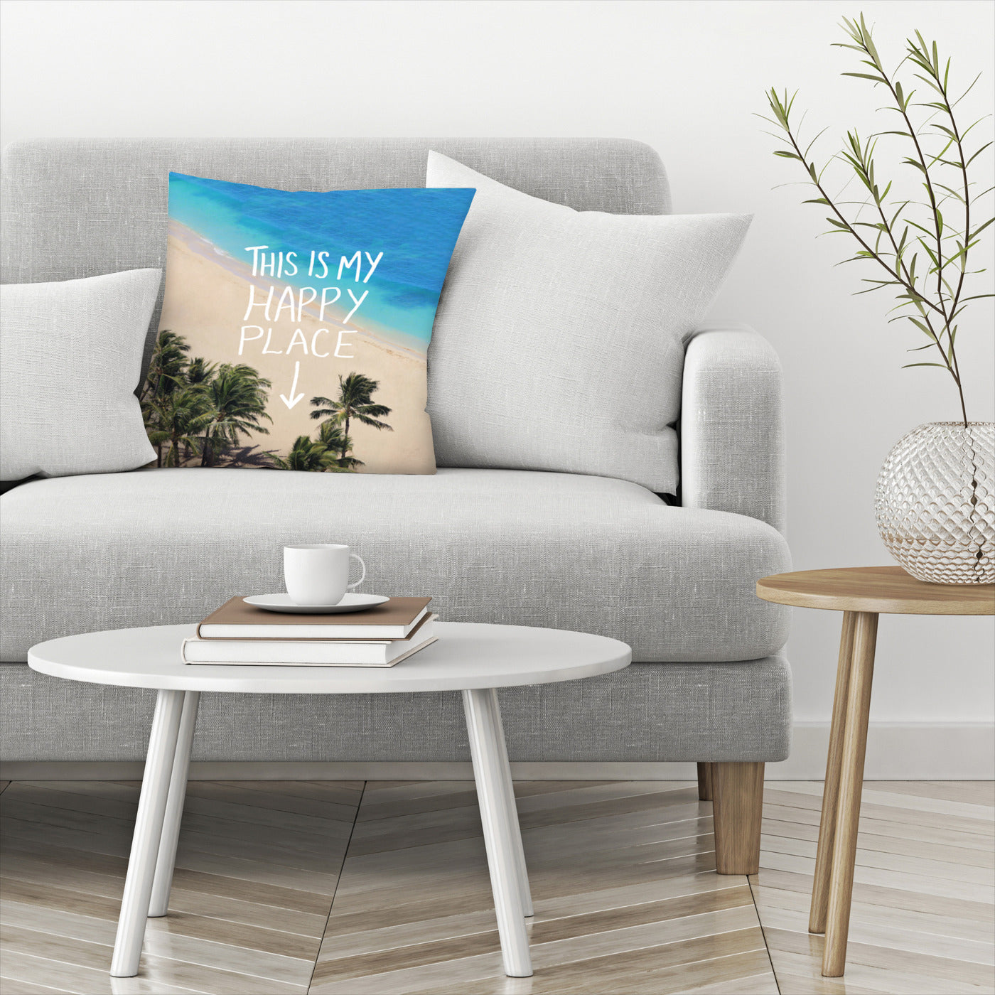 Happy Place Hawaii by Leah Flores  Decorative Pillow - Decorative Pillow - Americanflat