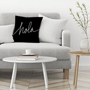 Hola by Leah Flores  Decorative Pillow