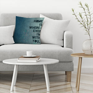 Home by Leah Flores  Decorative Pillow