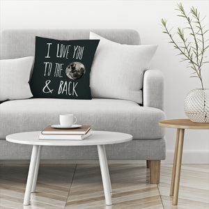 I Love You To The Moon by Leah Flores  Decorative Pillow