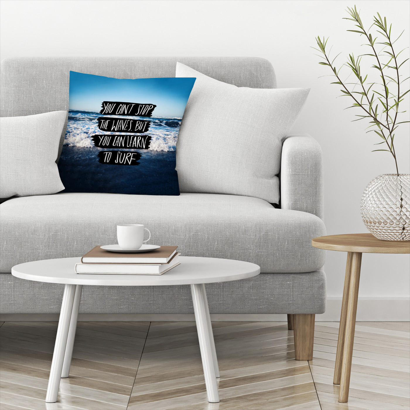 Learn To Surf by Leah Flores  Decorative Pillow - Decorative Pillow - Americanflat