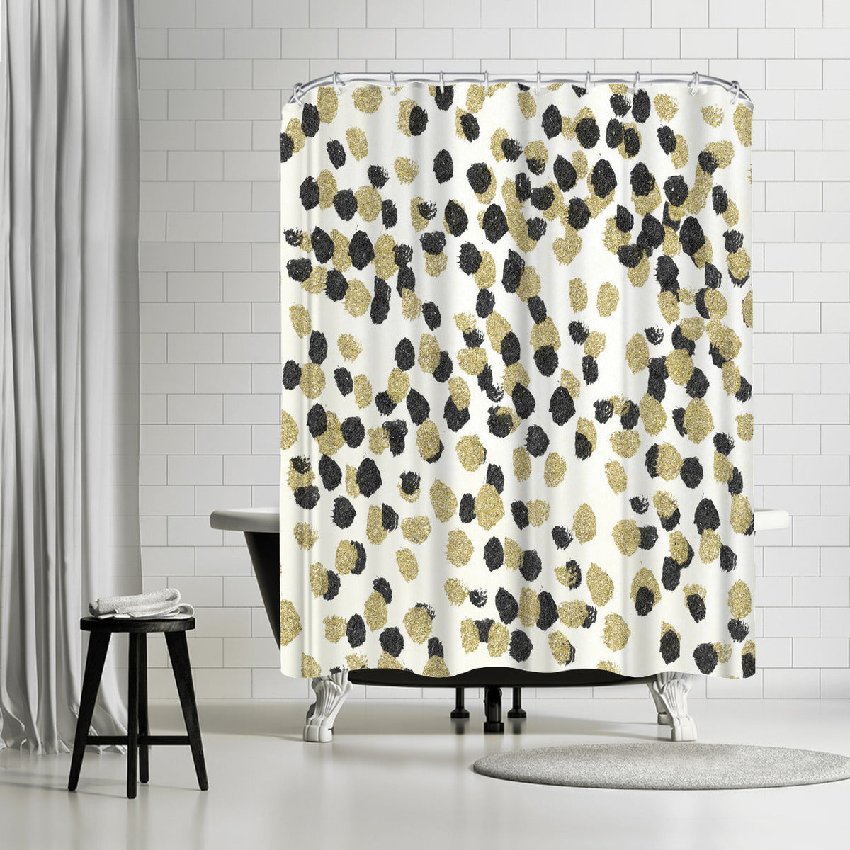 Leopard Glam by Leah Flores Shower Curtain - Shower Curtain - Americanflat