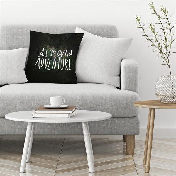 Lets Go On An Adventure by Leah Flores  Decorative Pillow