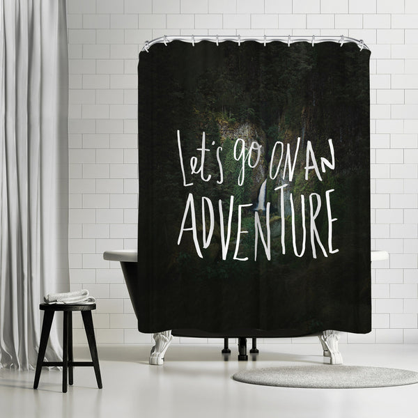 Lets Go On An Adventure by Leah Flores Shower Curtain