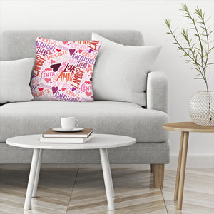 Love Languages by Leah Flores  Decorative Pillow