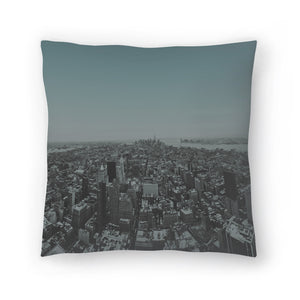 Manhattan by Leah Flores  Decorative Pillow