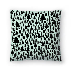 Mint Pine Forest by Leah Flores  Decorative Pillow