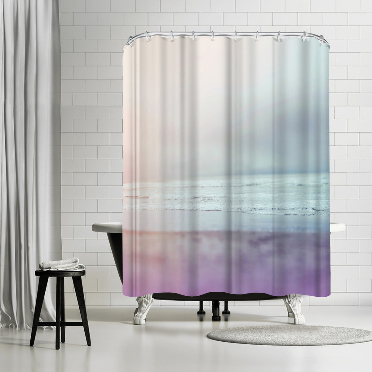 Ocean Pastel by Leah Flores Shower Curtain