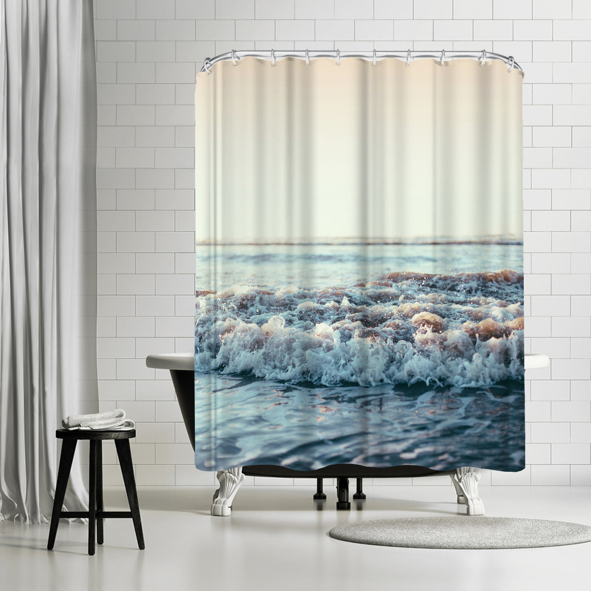 Pacific Ocean by Leah Flores Shower Curtain -  - Americanflat