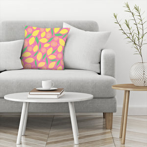 Pink Lemonade by Leah Flores  Decorative Pillow