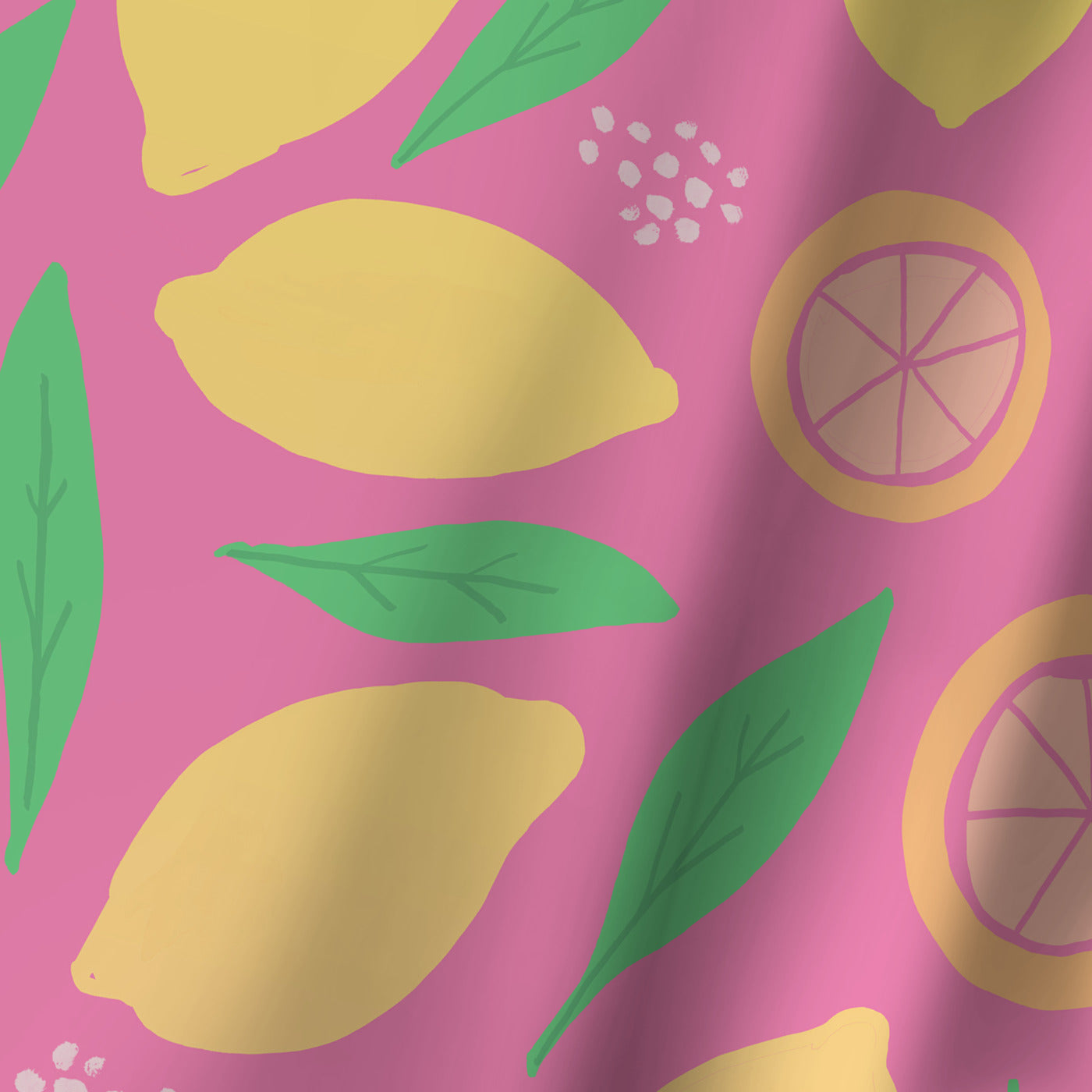Pink Lemonade by Leah Flores Shower Curtain -  - Americanflat