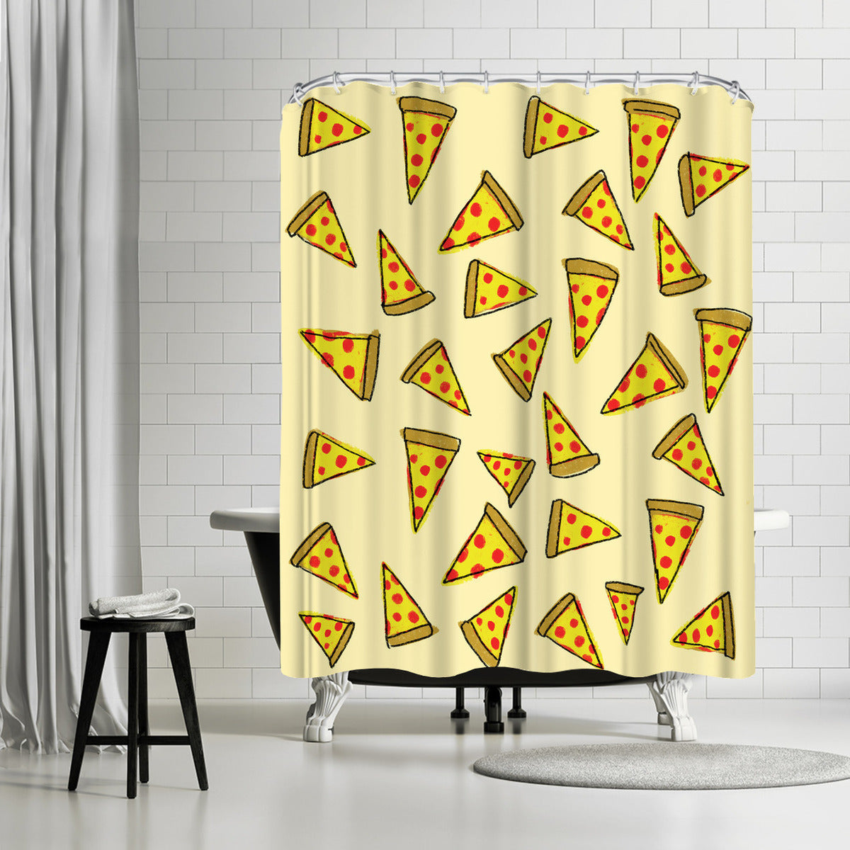 Pizza Party by Leah Flores Shower Curtain - Shower Curtain - Americanflat