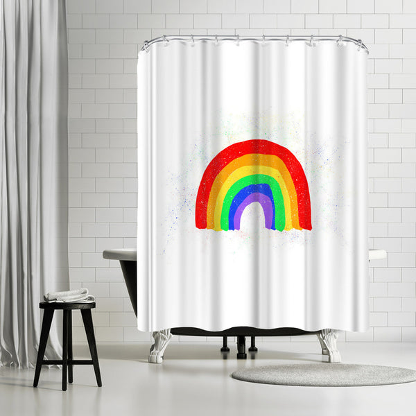 Rainbow Love by Leah Flores Shower Curtain