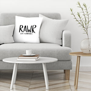 Rawr I̻m A Dinosaur by Leah Flores  Decorative Pillow