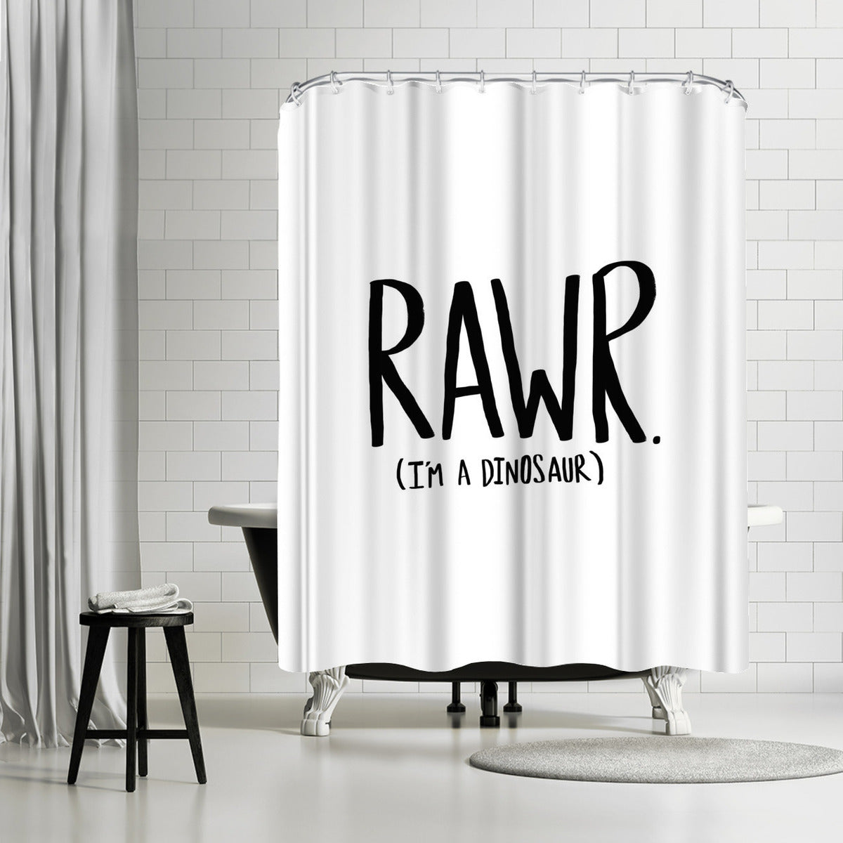 Rawr I'm A Dinosaur by Leah Flores Shower Curtain - Shower Curtain - Americanflat