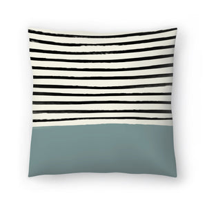 River Stone by Leah Flores  Decorative Pillow