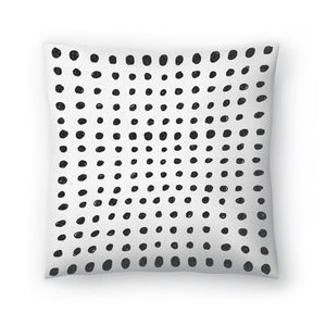Scribble Dots by Leah Flores  Decorative Pillow