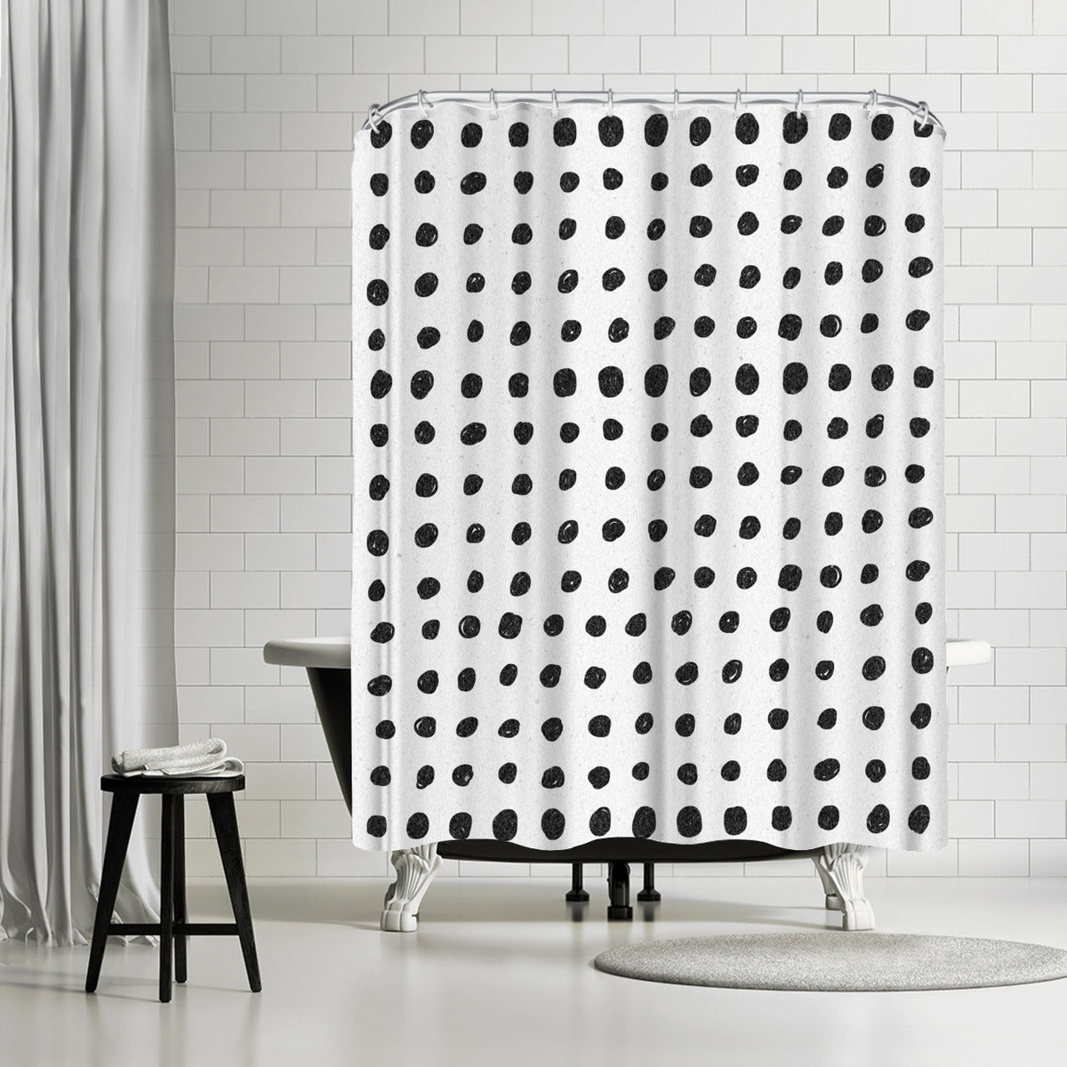 Scribble Dots by Leah Flores Shower Curtain -  - Americanflat