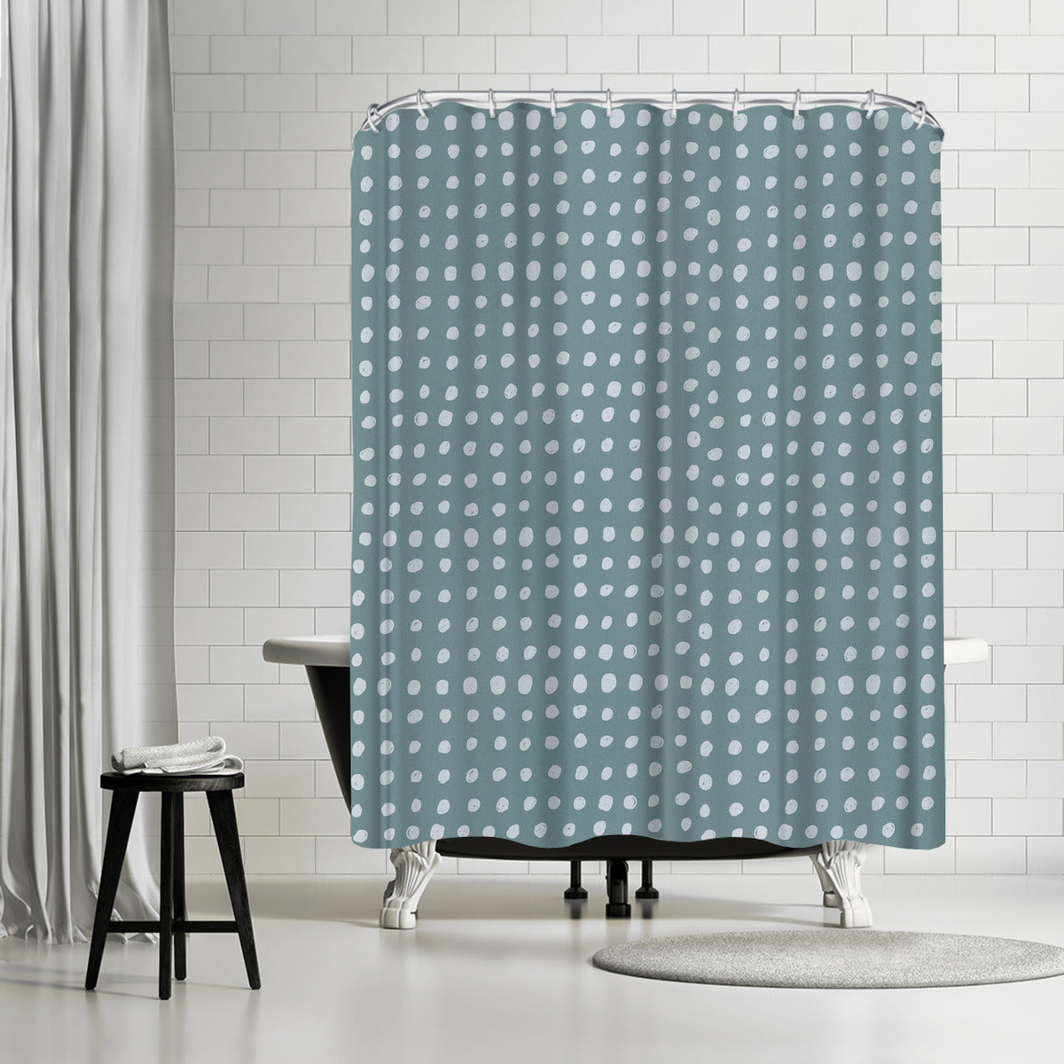 Slate by Leah Flores Shower Curtain
