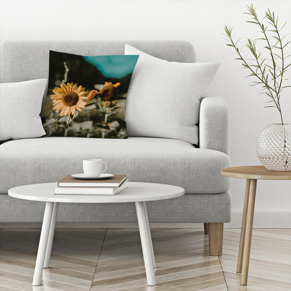 Sunflower by Leah Flores  Decorative Pillow