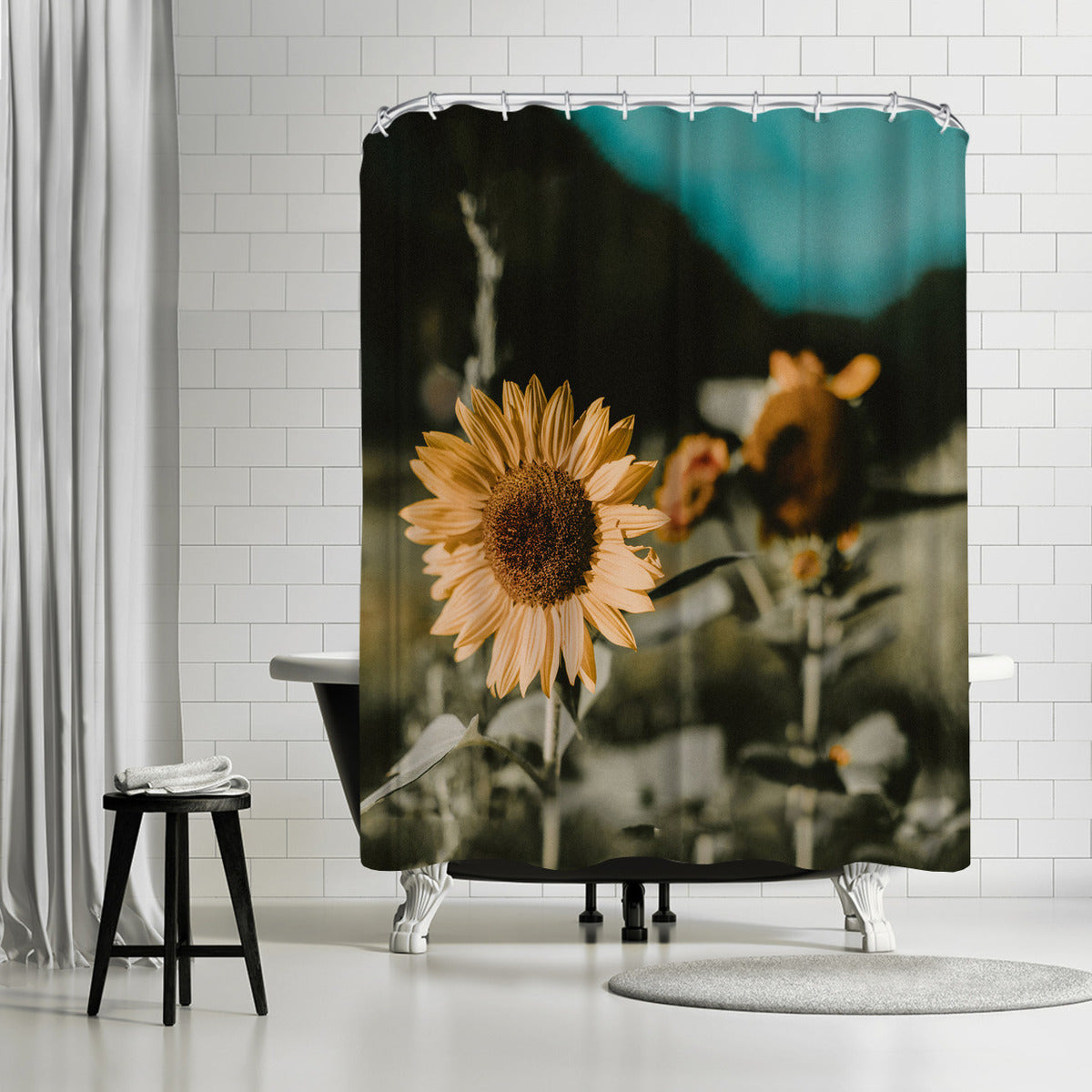 Sunflower by Leah Flores Shower Curtain -  - Americanflat
