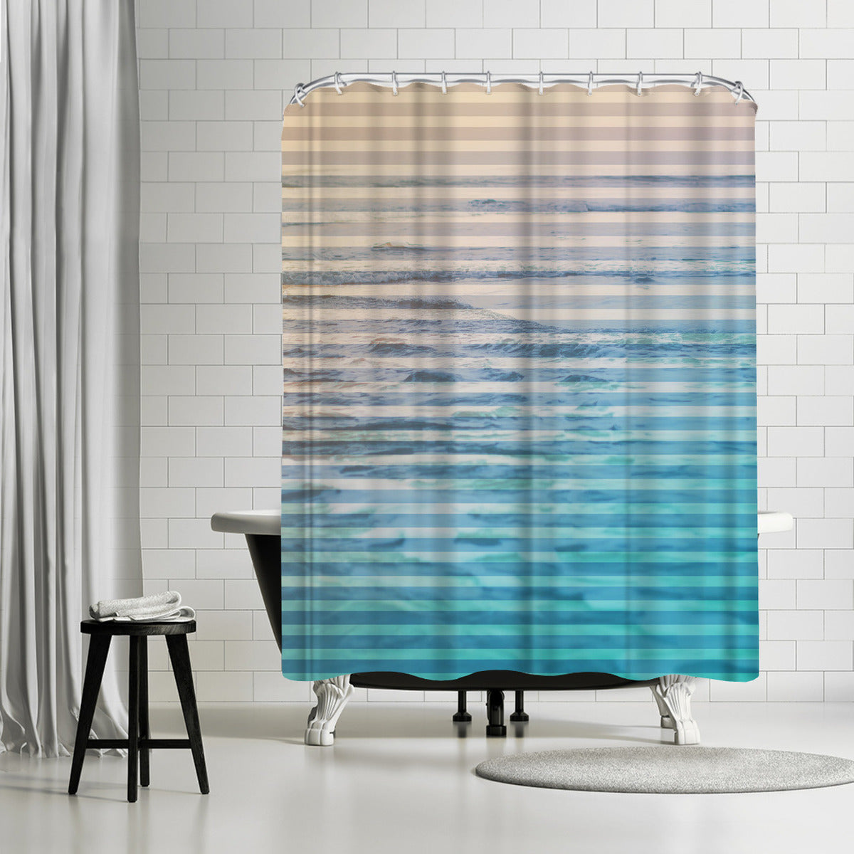 Sunrise Ocean by Leah Flores Shower Curtain - Shower Curtain - Americanflat