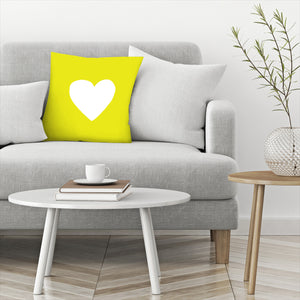Sunshine Heart by Leah Flores  Decorative Pillow