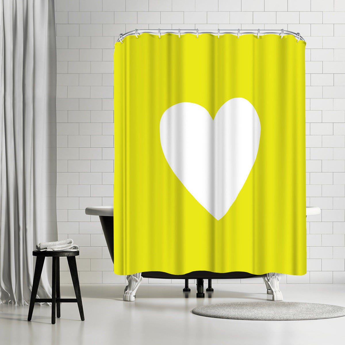 Sunshine Heart by Leah Flores Shower Curtain - Shower Curtain - Americanflat