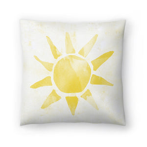 Sunshine Watercolor by Leah Flores  Decorative Pillow