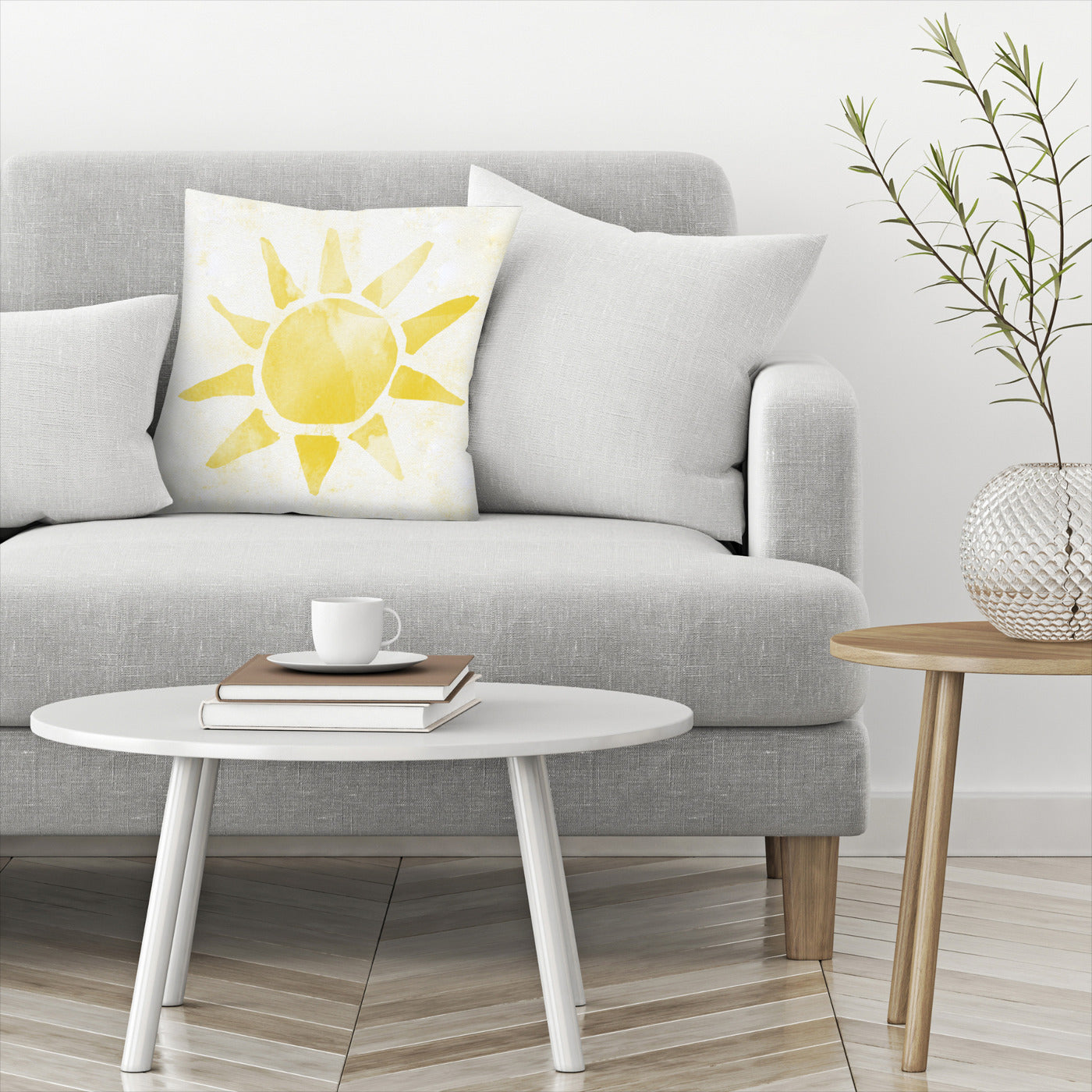 Sunshine Watercolor by Leah Flores  Decorative Pillow - Decorative Pillow - Americanflat
